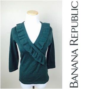 Banana Republic Extra Fine Merino Ruffle Sweater